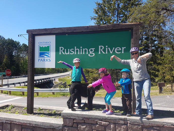In no rush to leave at Rushing River PP, Ontario