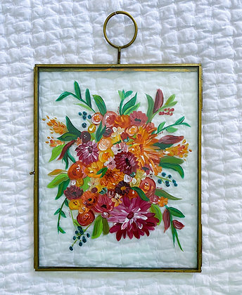 Floral float frame 8x10