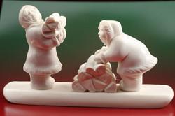 Скульптура Дровишки,  Материал рог лося.jpg