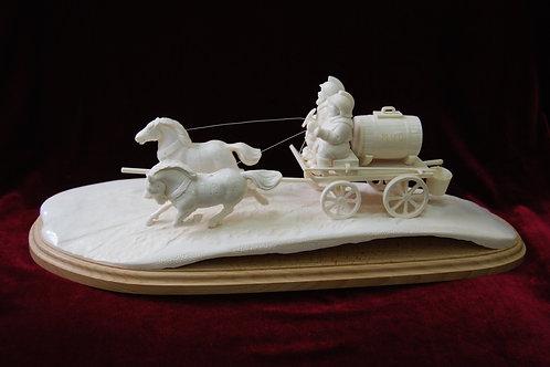 "Скульптура ""Пожарные на лошадях"""