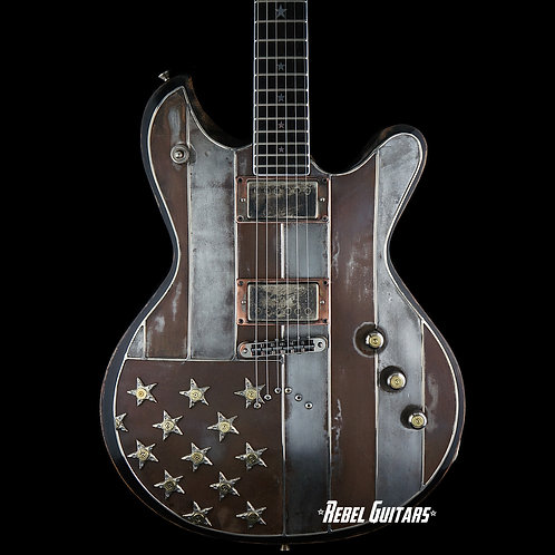Custom order Rust White & Bullets Guitar