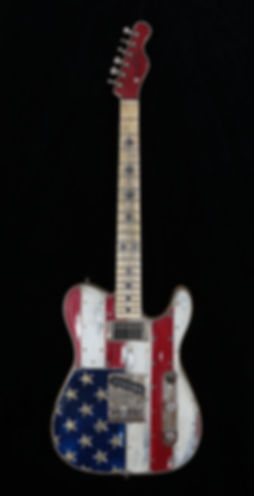 Red, White & Bullets Guitar