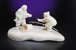Скульптура На рыбалке 1, Материал рог лося, цевка.jpg
