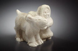 Скульптура Малыши, Материал рог лося.jpg