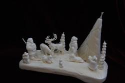 Скульптура У чума ум Материал Рог лося, цевка.jpg