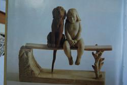 Скульптура После купания, Материал бивень мамонта, рог лося.jpg