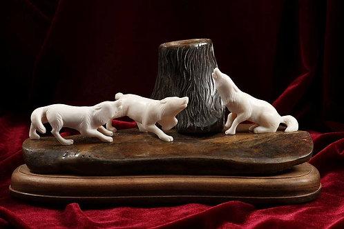 """Скульптура """"Волчье эхо"""""""