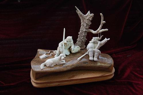 """Скульптура """"Охотники на привале"""""""