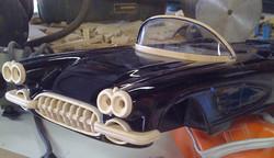 '58 Corvette (bumper-headlights-windshield in progress)