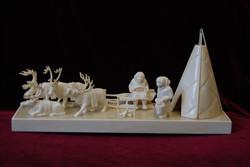 Скульптура Остяки на оленях у чума,Материал  бивень мамонта.jpg