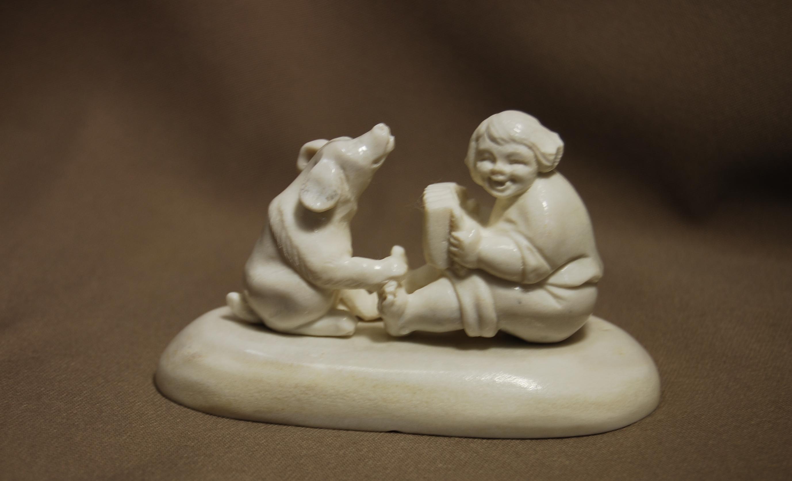 Скульптура Дуэт, Материал рог лося.jpg