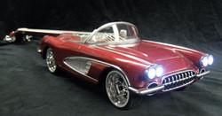 '58 Corvette McSwain Car Guitar (lights on)