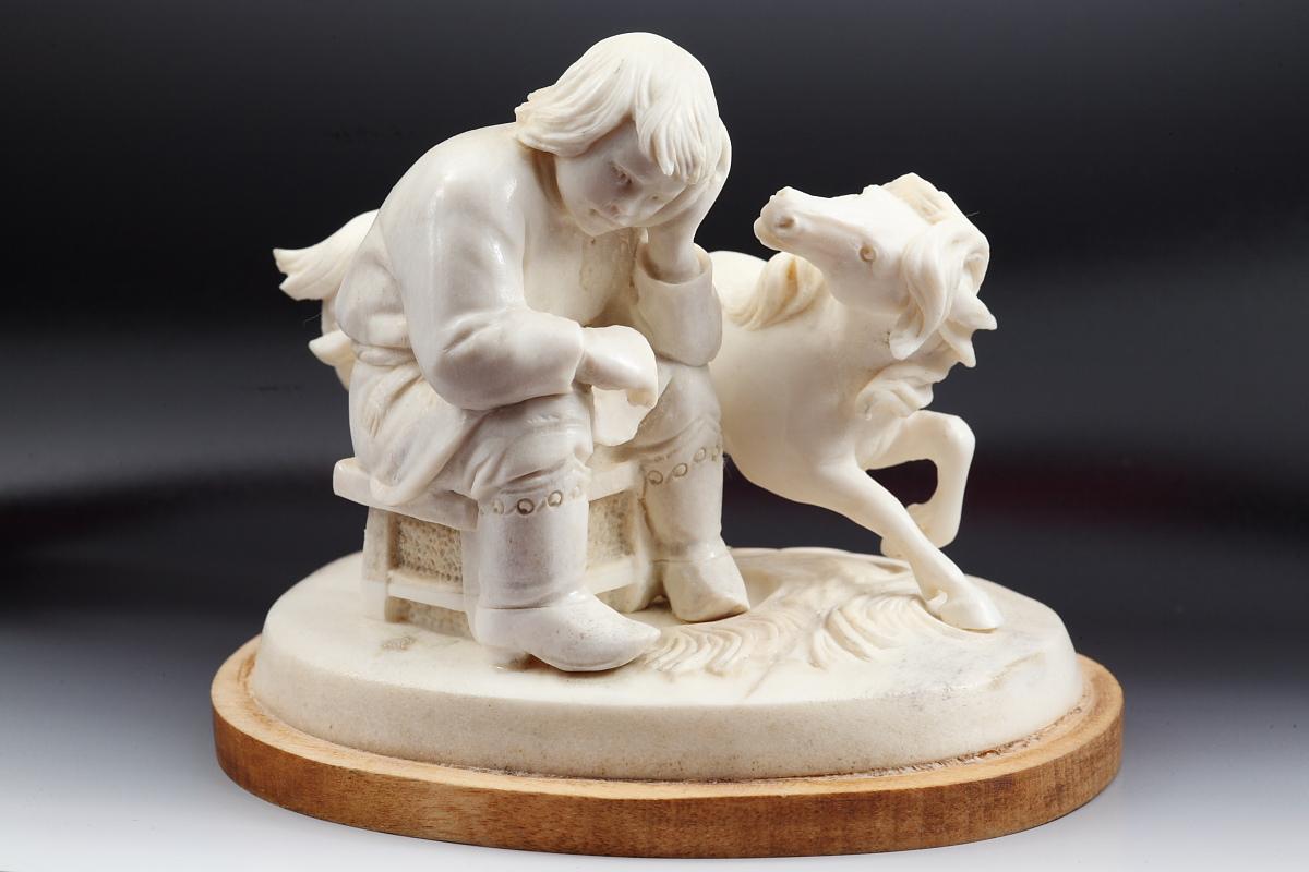 Скульптура Что Иванушка не весел, Материал рог оленя.JPG