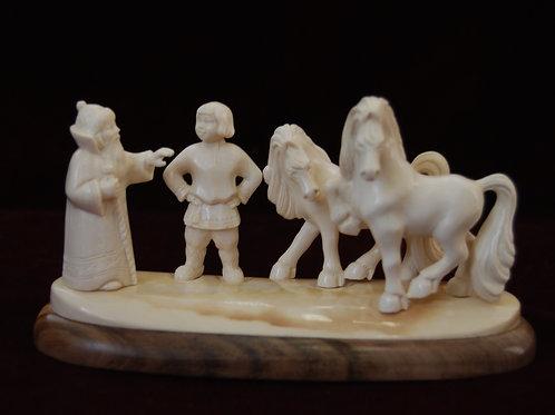 """Скульптура """"Эта пара, царь, моя"""""""