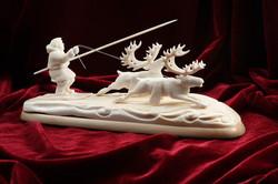 Скульптура Финиш, Материал цевка, рог лося.jpg