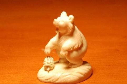 """Скульптура """"Мишка с ежиком"""""""