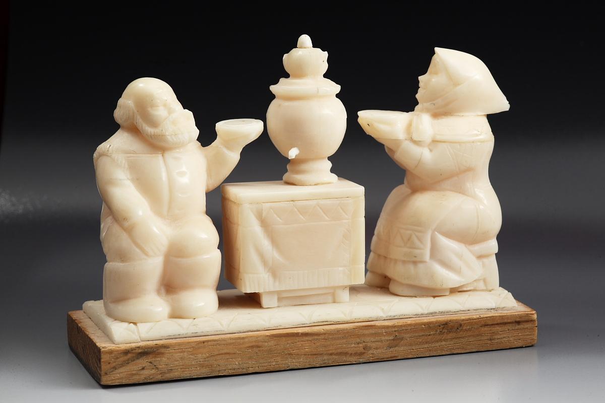Скульптура Масленица (Чаепитие), Материал цевка.JPG