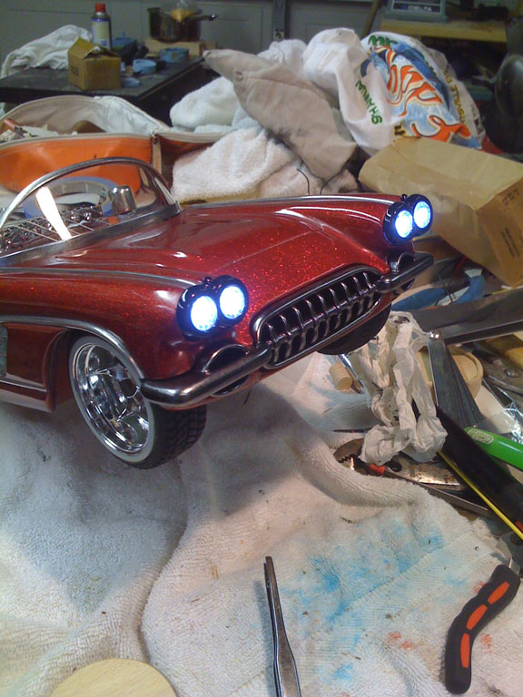 '58 Corvette headlights on (side)
