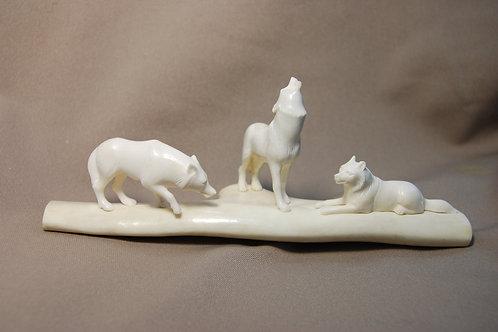 """Скульптура """"Волчье эхо-1"""""""