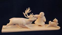 Скульптура Юный оленевод, Материал цевка.jpg