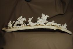 Скульптура Охота на волков  Материал рог лося.jpg