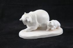 Скульптура Медведица с медвежонком, Материал рог лося.JPG
