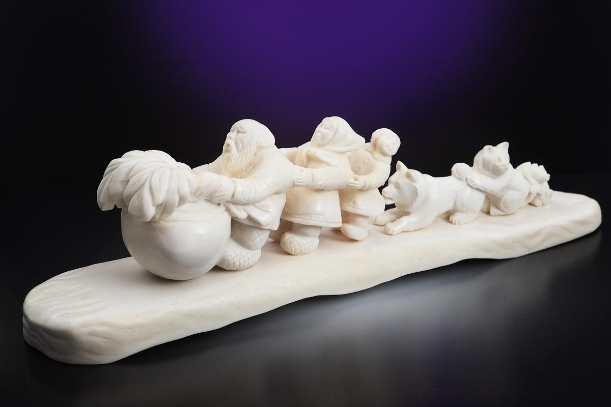 Скульптура Репка Материал рог лося.jpg
