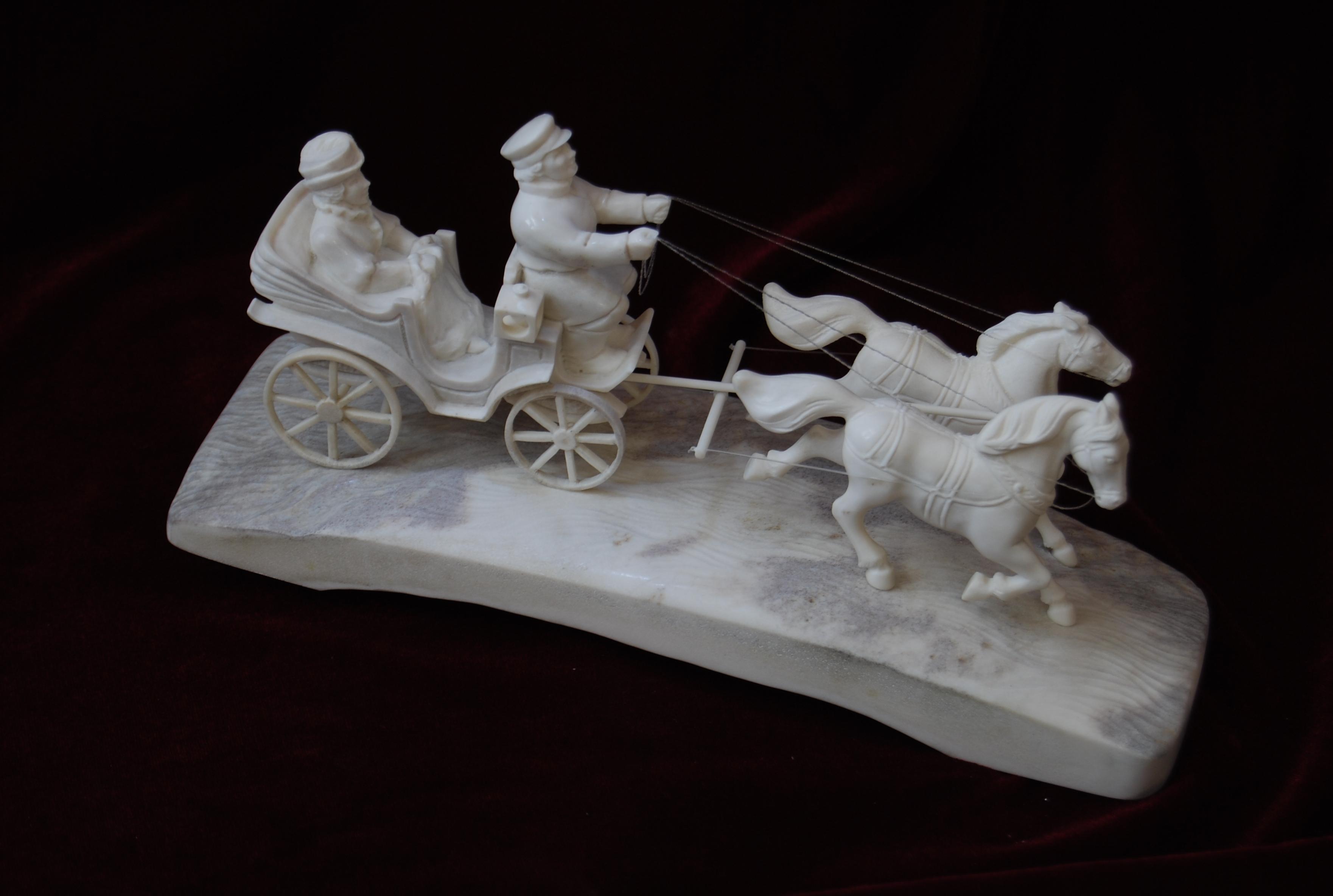 Скульптура На прогулке, Материал рог лося.jpg