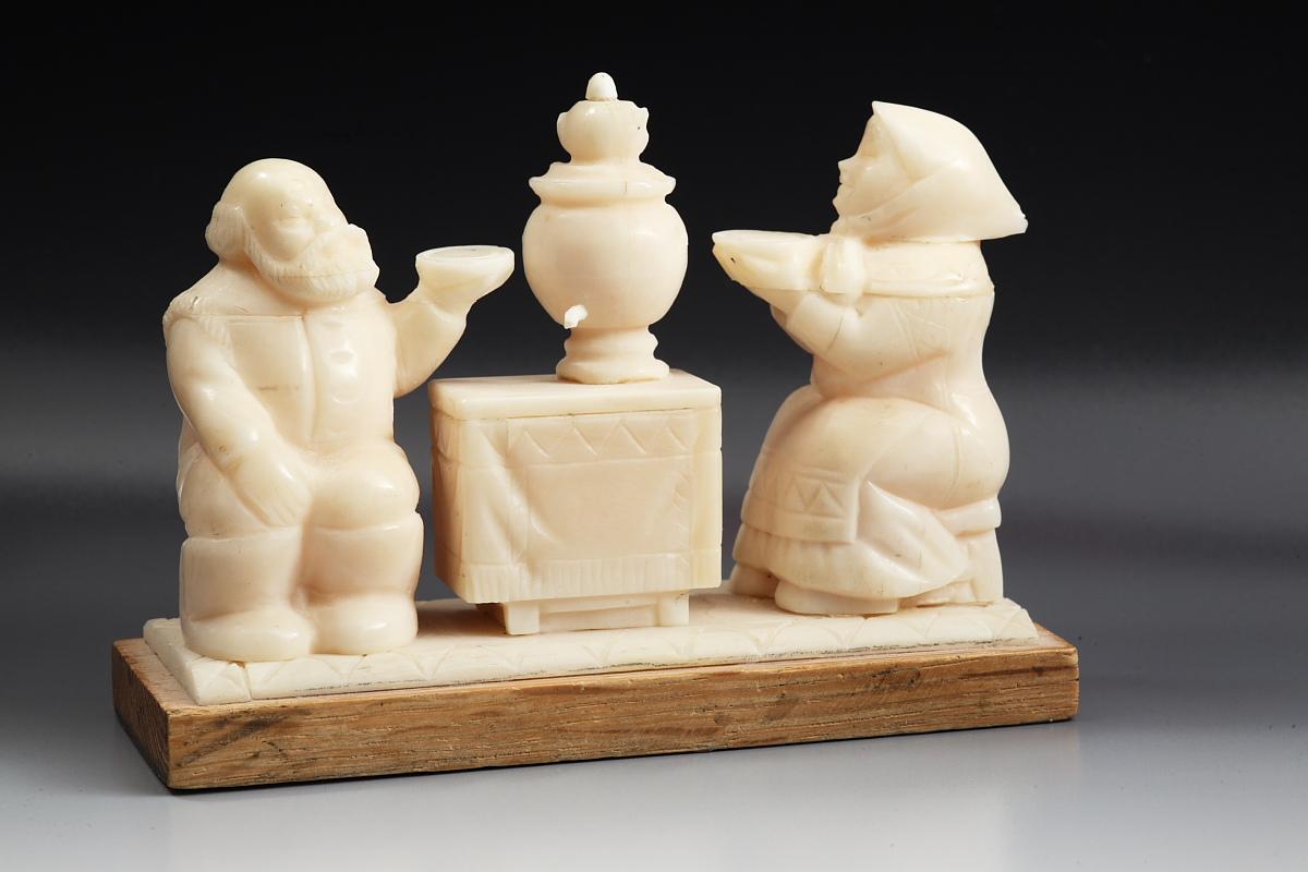 Скульптура Чаепитие  (масленица), Материал цевка.jpg