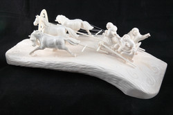 Скульптура Сельский праздник(ум.), Материал рог лося, цевка.JPG