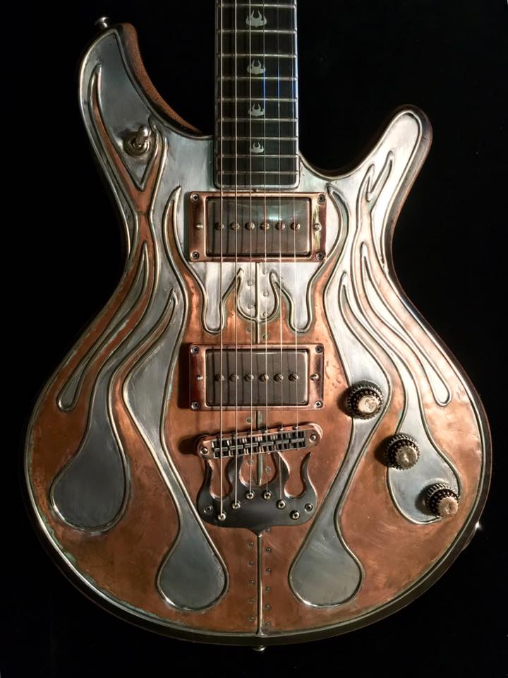 Copper Flame Guitar Mcswain Guitars