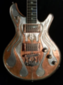 Copper Flame Guitar