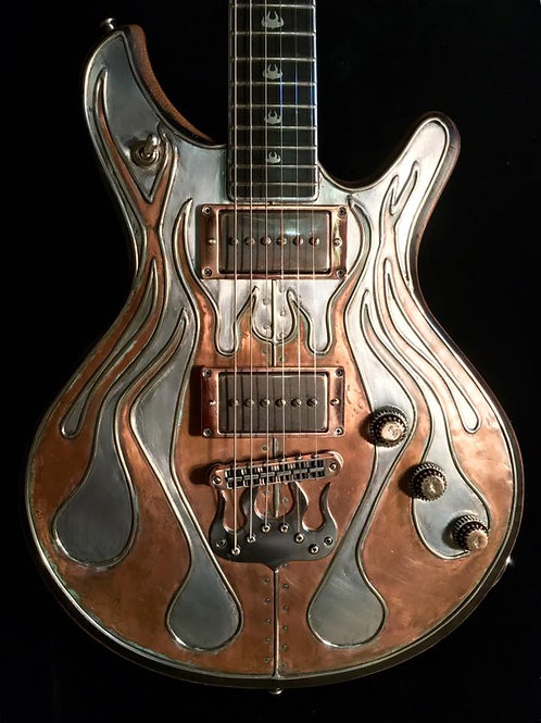 Custom order Copper Flame Guitar