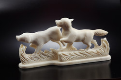 Скульптура Сеттеры, Материал рог лося.jpg