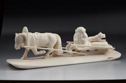 Скульптура Мужик и лиса, Материал цевка.JPG