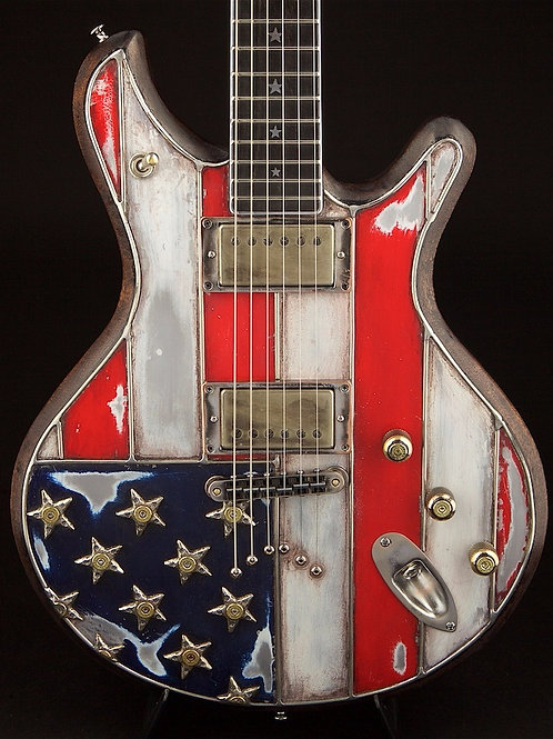 Red, White & Bullets SM-1 - avail. @ World Guitars