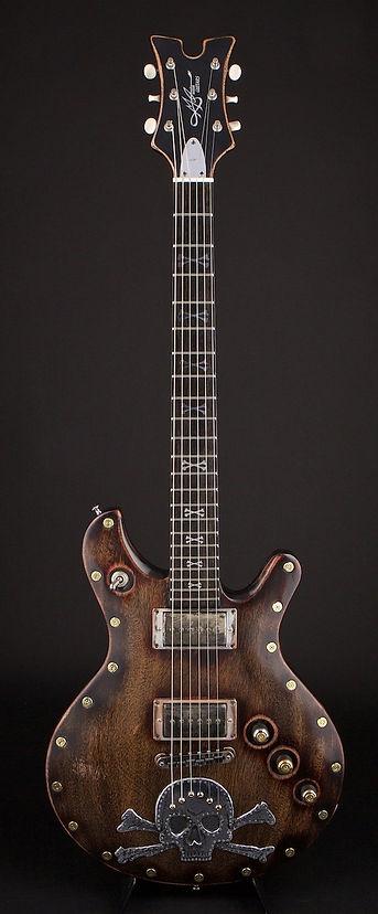 Skull and bones guitar
