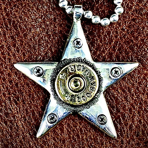 Large McSwain Bullet Star Pendant - .925 Silver