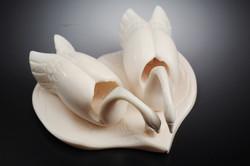 Скульптура Лебеди,  Материал цевка.jpg