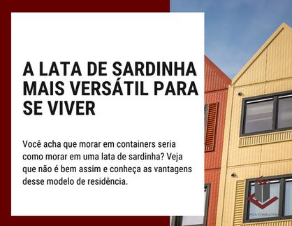 A LATA DE SARDINHA MAIS VERSÁTIL PARA SE VIVER