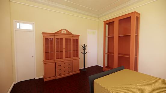Portas e armários do quarto
