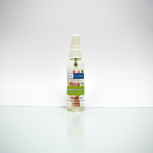 All Clean Natural Hand Sanitizer Spray - Lemon Mint