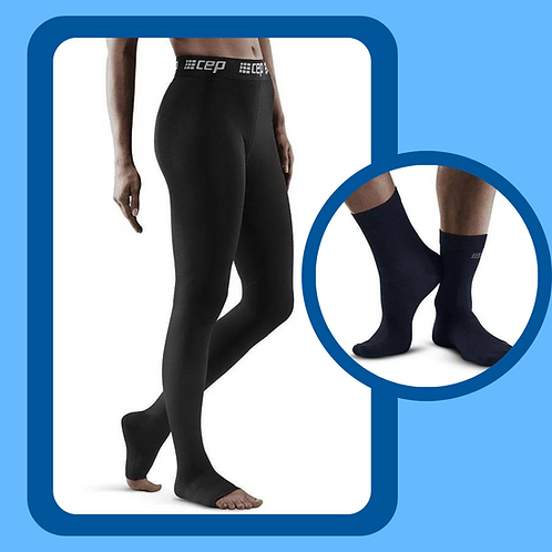 Recovery Pro Compression Tights + Allday Recovery Compression Mid Cut Socks