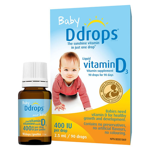 Baby Ddrops Vitamin D3 Supplement