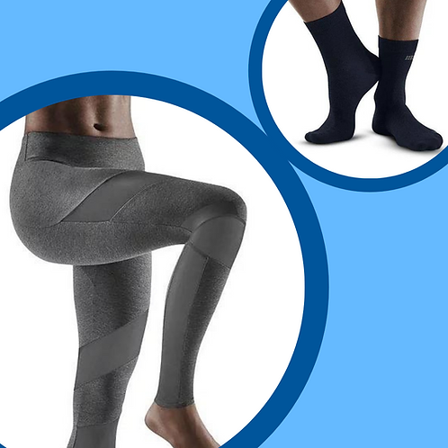 CEP Training Tights + AllDay Recovery Mid Cut Compression Socks