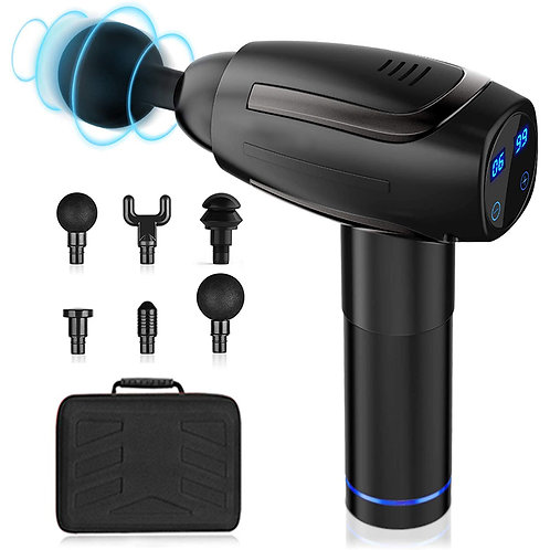 Pegasus Vibration 6 Speed Massage Gun with LCD Touch Screen