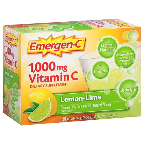 Emergen-C Lemon Lime 30-pack