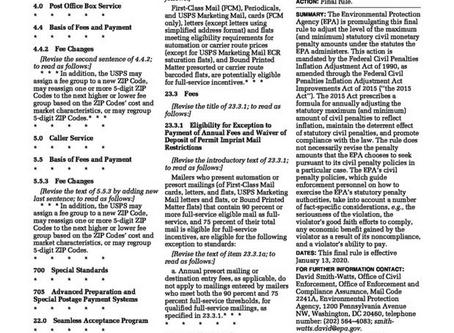 EPA increases penalties for NSR Violations  January 28, 2020 | Eric L. Hiser