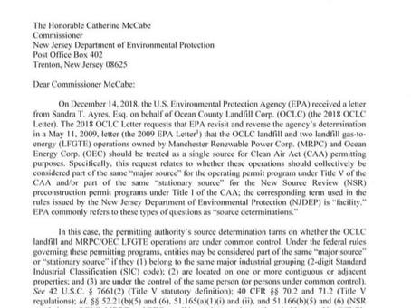 EPA Limits Meadowbrook and Ameresco Scope