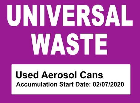 EPA Finalizes Proposal to Add Aerosol Cans to the Universal Waste List